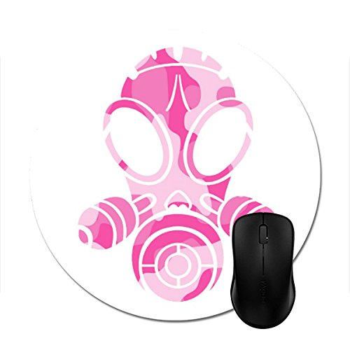 Custom Mousepad Gas Mask Pink Camo Print Mouse Mat