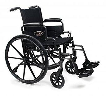 Everest & Jennings 3H010120 Advantage Wheelchair, Detachable Desk Arm, Swing Away Footrest, 18