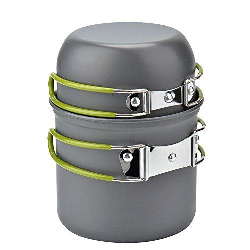 ECVILLA-Camping-Cookware-Mess-Kit-Cooking-Picnic-Bowl-Pot-Pan-Set-2-Piece