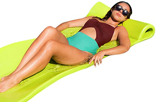 Pool Mate Large Foam Mattress Swimming Pool Float, Lime