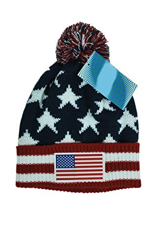 IconSports USA Beanie Flag Soccer National Team Us Flag American Beanie (Team Knit Cap)