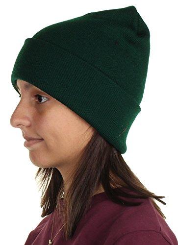 Green Cuffed Beanie - 7