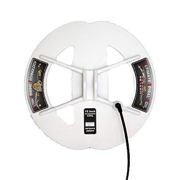 DETECH - Bobina de búsqueda de 15 Pulgadas DD Ultra Sensing para Minelab GPX, GP, SD Series Gold Detectors y White s ...