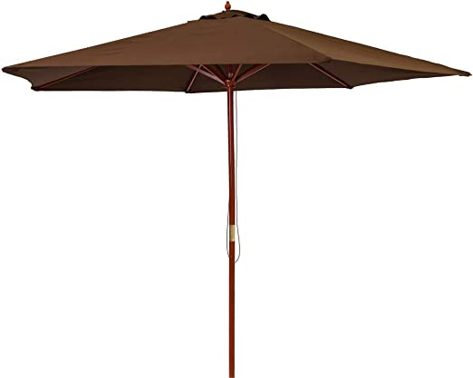 Ldk Garden 82421 - Parasol de jardín plegable, 300 x 300 x 250 cm, color chocolate: Amazon.es: Jardín