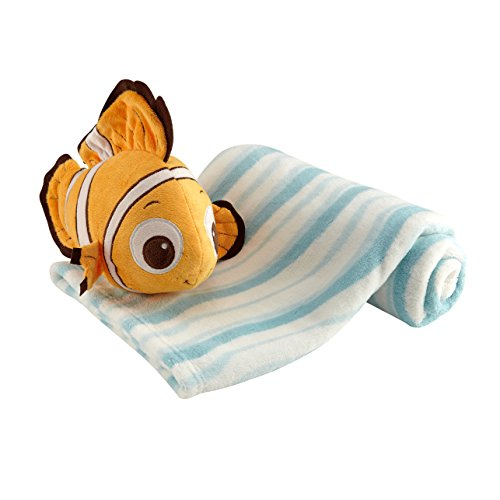 - Disney Finding Nemo Plush and Blanket, Blue
