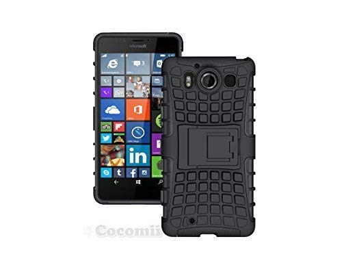 Cocomii Grenade Armor Microsoft Lumia 950 Case New [Heavy Duty] Premium Tactical Grip Kickstand Shockproof Bumper [Military Defender] Full Body Rugged Cover for Microsoft Lumia 950 (G.Black) (Best Phone In Nokia Lumia Series)