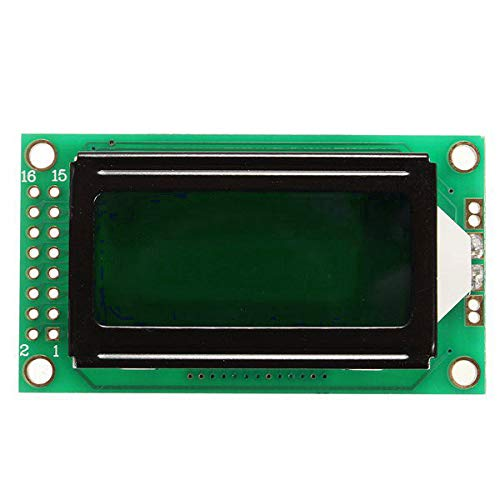 - 0802 LCD Module 82 Character Display Green LED Backlight for Arduino