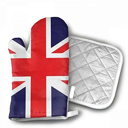 Union Jack Oven Mitts,Professional Heat Resistant Microwave