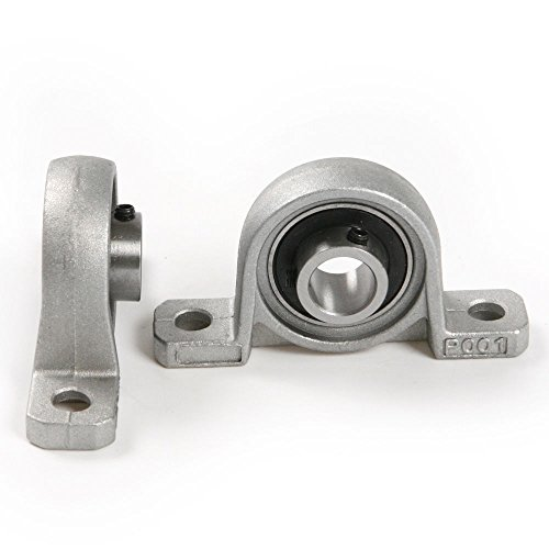 Yosoo 2 Pcs Corrosion Resistance Pillow Block Bore 8/10/12/20mm Inner Diameter Zinc Alloy Metal Ball Bearing Housing (20mm) by Yosoo