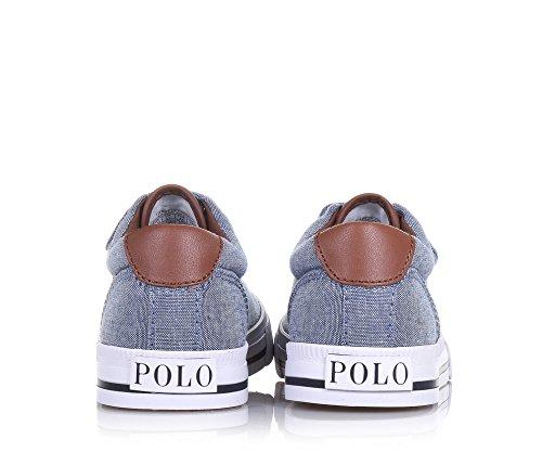 POLO RALPH LAUREN - Chaussure bleue en tissu, avec fermeture en velcro, garçon