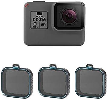 Amazon Com Telesin Gopro Lens Filter 3pack Nd4 Nd8 Nd16 Neutral Density Lens Filter Kit For Gopro Hero 7 Black Hero 2018 Hero 6 Hero 5 Black Gopro Camera Lens Accessories Nd 4 8 16 Camera Photo