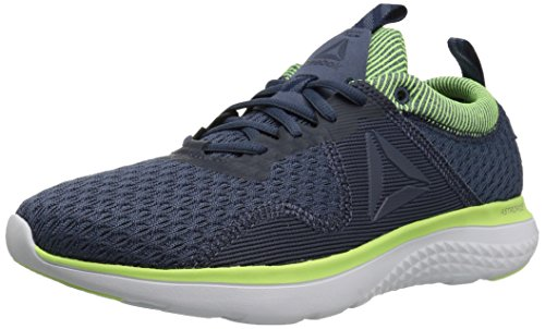 Reebok Men's Astroride Run FIRE MTM Shoe, Smoky Indigo/coll. Navy/Electric Flash/White/Silver/Pewter, 10 M US