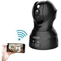 IP Camera, UOKOO 720P Home Security WiFi Wireless Camera, Network Video Baby Monitor with Pan & Tilt/Two-way Audio/Night Vision Black 826