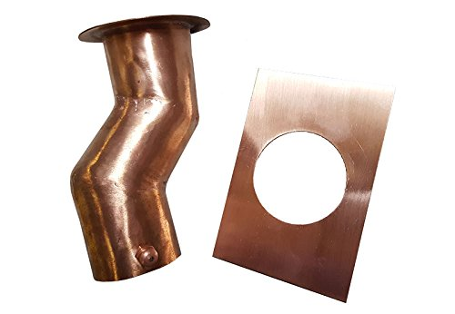 2 Inch Offset Copper Rain Chain Installation Kit