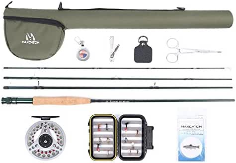 Maxcatch Extreme Fly Fishing Combo Complete Fly Rod Kit 9' 5weight