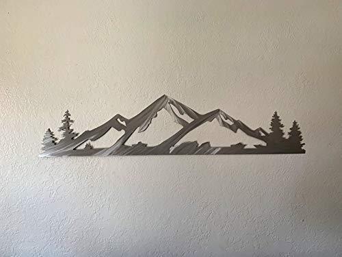 Alta Ski Resort Handmade Metal Wall Art Utah Mountains Winter Sports Scenery