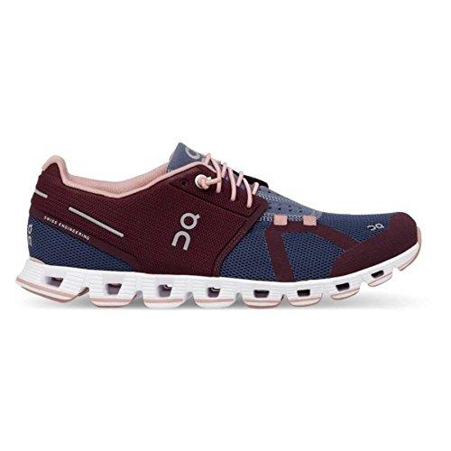 On Running Womens Cloud Mulberry/Velvet Running Shoe - 9.5