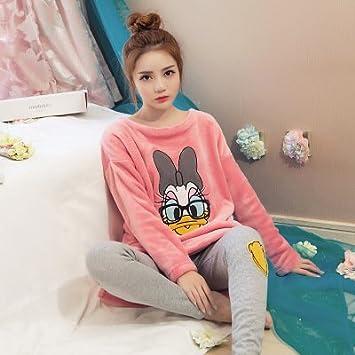 MH-RITA 2017 pijamas mujer pijamas de invierno mujer traje Pijama Pijama Polar Coral conjunto mantenga caliente dormir Set 1 XXL: Amazon.es: Hogar
