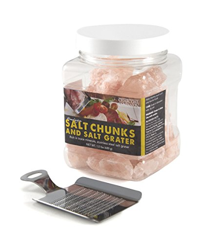 Charcoal Companion CC6056 Himalayan Salt Chunks with Grater, 24-Ounce (Chunks Cooking)