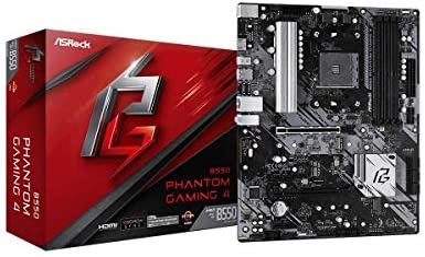 ASRock B550 Phantom Gaming 4 Supports third Gen AMD AM4 Ryzen/Future AMD Ryzen Processors Motherboard