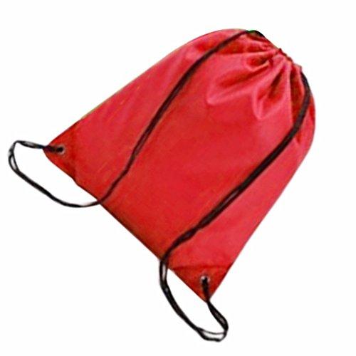 Zaino borsa di lacci per sport e attività: Rosso