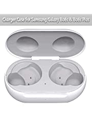 Wireless Charging Case Compatible with Samsung Galaxy Buds, for Samsung Galaxy Bud+ Plus Wireless Charger Case, (Only Galaxy Buds Charging Case Included), Built-in The Latest Smart Chip (White)