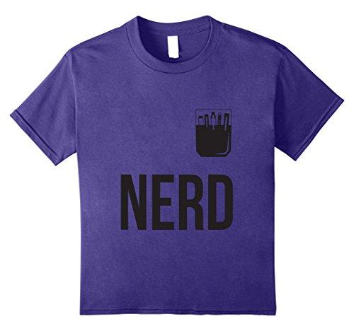 Cute Girl Geek Costume (Kids Halloween Costume Nerd Shirt Cute Funny Adult & Kid Geeks 8 Purple)