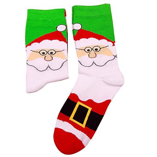 HEHEM Christmas Socks Women and Men Christmas Comfortable Stripe Cotton...