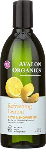 Avalon Organics Bath & Shower Gel, Refreshing Lemon, 12 Fluid (Refreshing Body Gel)