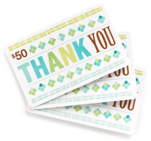 Amazon.com $50 Gift Cards, Pack of 3 (Thank You Card Design)