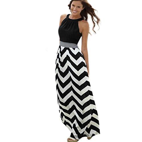 Women Dresses Summer Women New Sexy Long Evening Party Beach Maxi Sundress Black