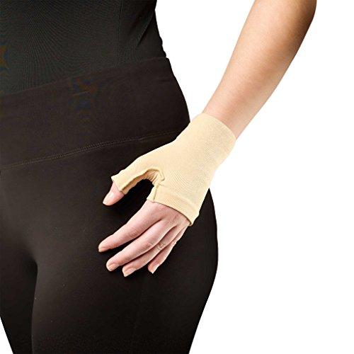 - Truform Lymphedema Compression Gauntlet, 20-30 mmHg Post Mastectomy Support, Beige, Medium (20-30 mmHg)