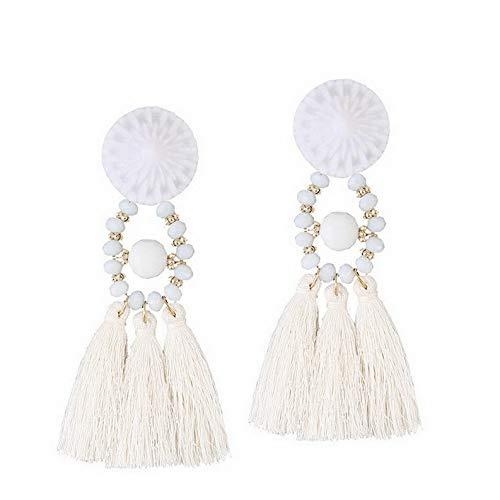 Rhame Vintage Fashion Women Bohemian Fringe Boho Long Tassel Hook Drop Dangle Earrings | Model ERRNGS - 5511 | ()