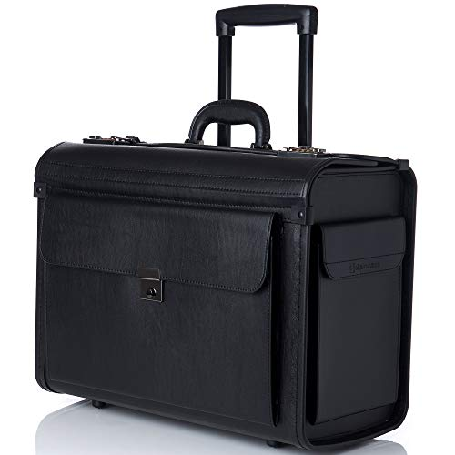 Alpine Swiss Rolling 17″ Laptop Briefcase on Wheels Attache Lawyers Case Legal Size