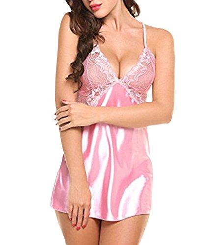 Abito Babydoll Donna shopping senza spalline da Camicia Regolabile 365 Rosa notte SF1qwxC