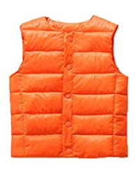 Cromoncent Boys and Girls Autumn Winter Quilted Padded Packable Puffer Vest Down Vest
