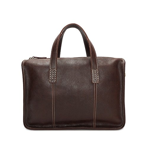 Handbag Coffee Lppff Color 13 Inch Brown Bag color Computer Casual Briefcase Men's Leather qqrpxtwBP