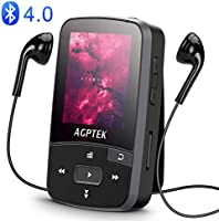 16GB Clip MP3 Player with Bluetooth 4.0, AGPTEK A50S Lossless Sound Music Player with Armband for Sports, Supports FM...