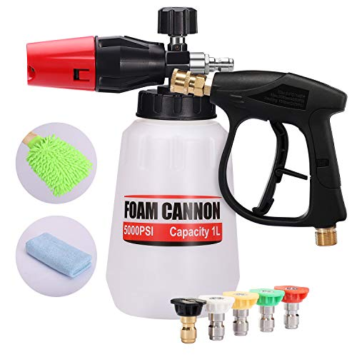 RUN STAR Pressure Washer Foam Cannon Snow Foam Lance 1/4