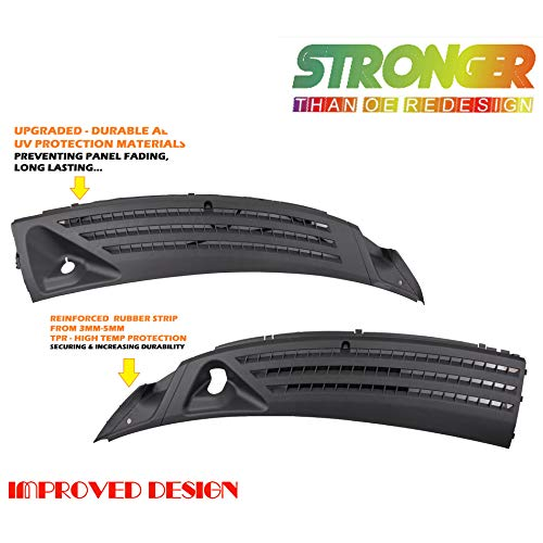 CF Advance For 04-08 Ford F-150 06-07 Lincoln Mark LT Left and Right Outer Exterior Windshield Window Wiper Cowl Cover Panel Set of 2pcs 2004 2005 2006 2007 2008