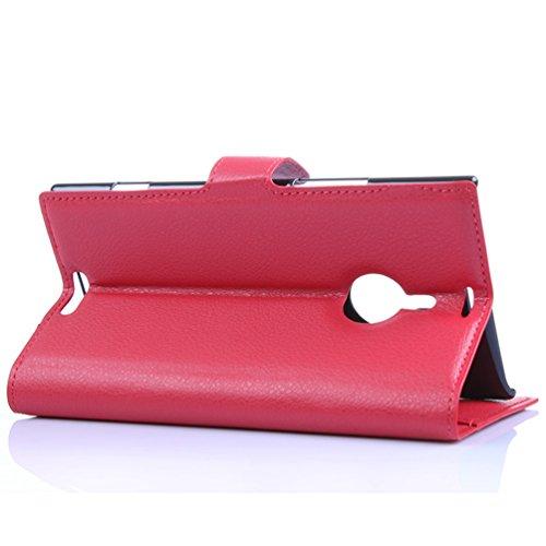 Funda Nokia lumia 1520,Manyip Caja del teléfono del cuero,Protector de Pantalla de Slim Case Estilo Billetera con Ranuras para Tarjetas, Soporte Plegable, Cierre Magnético(JFC7-15) B
