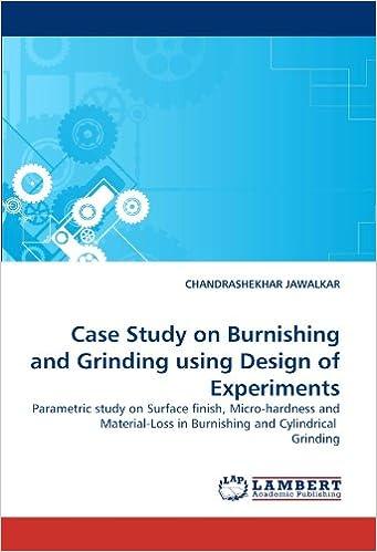 Amazon com: Case Study on Burnishing and Grinding using