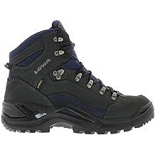 Lowa Men's Renegade GTX Mid Hiking Boot,Dark Grey/Navy,12 M US