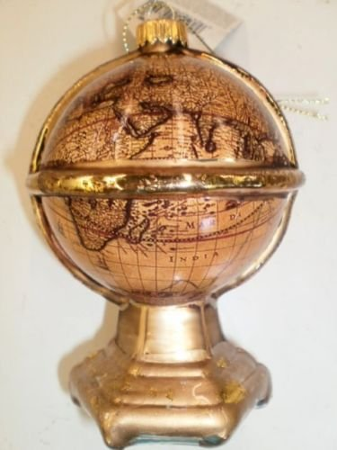 Vintage Look Glass Globe Christmas Ornament