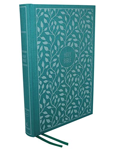KJV, Thinline Bible, Large Print, Cloth over Board, Green, Red Letter Edition, Comfort Print: Holy Bible, King James Version