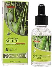 1pc aloe vera essens naturlig ren aloe serum ansikts hud reparera flytande lugnande och fukt essens för solbränna, kliande, torr hud (35ml / 1.23fl.oz) hudvårdsprodukter
