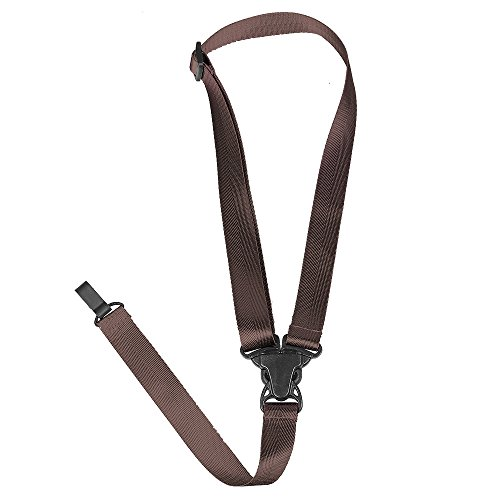 Button Nylon Ukulele Strap Brown product image