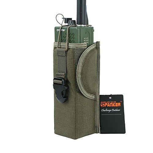 EXCELLENT ELITE SPANKER MOLLE Radio Pouch Tactical Nylon Universal Radio Holder Case Bag(Ranger Green)