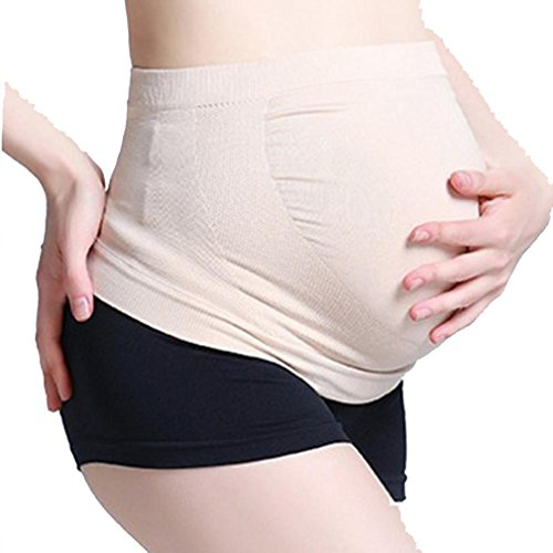 [Vanvler Pregnancy Maternity Special Support Belt Breathable Bump Belly Waist Baby Strap (M, Beige)] (Costumes For Pregnant Bellies)
