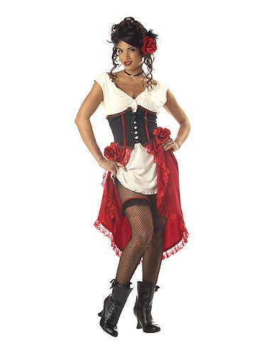 [Cantina Gal Costume - Large - Dress Size 10-12] (Saloon Gal Costumes)
